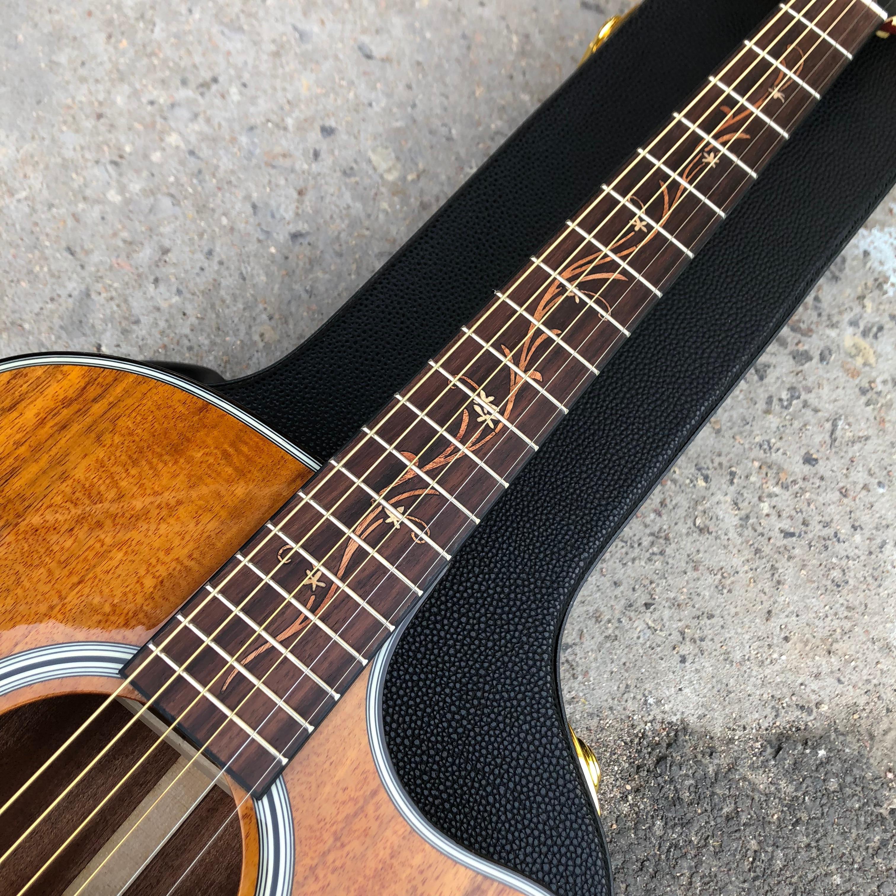 Rosewood Fingerboard 41 Inch Koa wood K24ce Acoustic Guitar enlarge