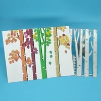 metal cutting mold for 4 big trees and leaves scrapbook photo frame photo album decoration diy handmade art