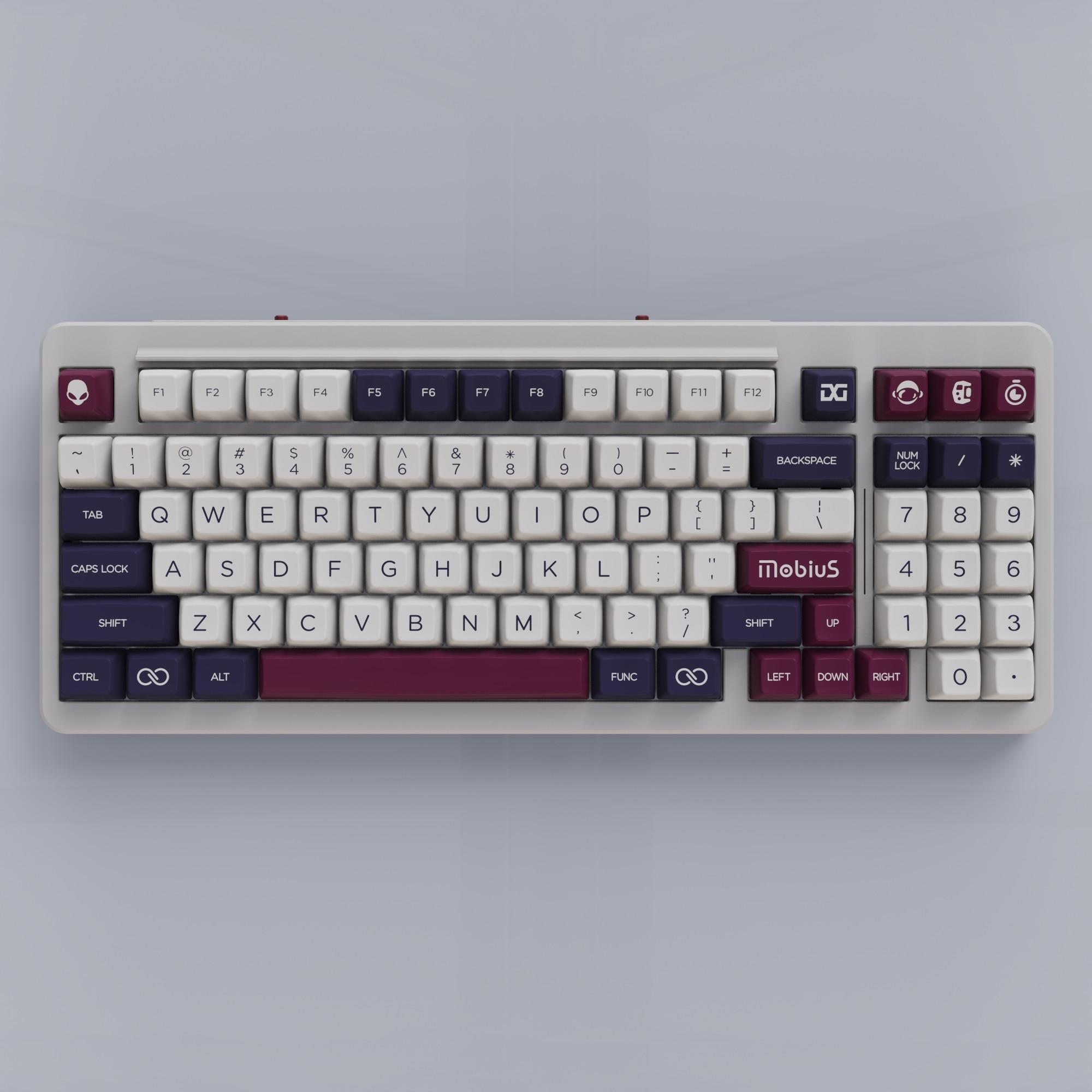 Domikey sa abs conjunto de keycap duplo mobius sa perfil para mx stem teclado poker 87 104 gh60 xd64 xd68 xd84 xd96 xd75 xd87