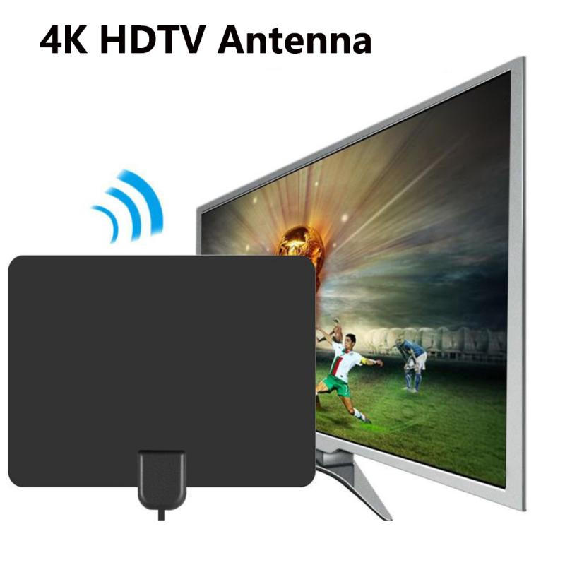 New 960 Miles 4K TV Antenna Indoor Digital HDTV Antenna With Amplifier UHF/VHF Freeview TV For Life Local Channels Broadcast