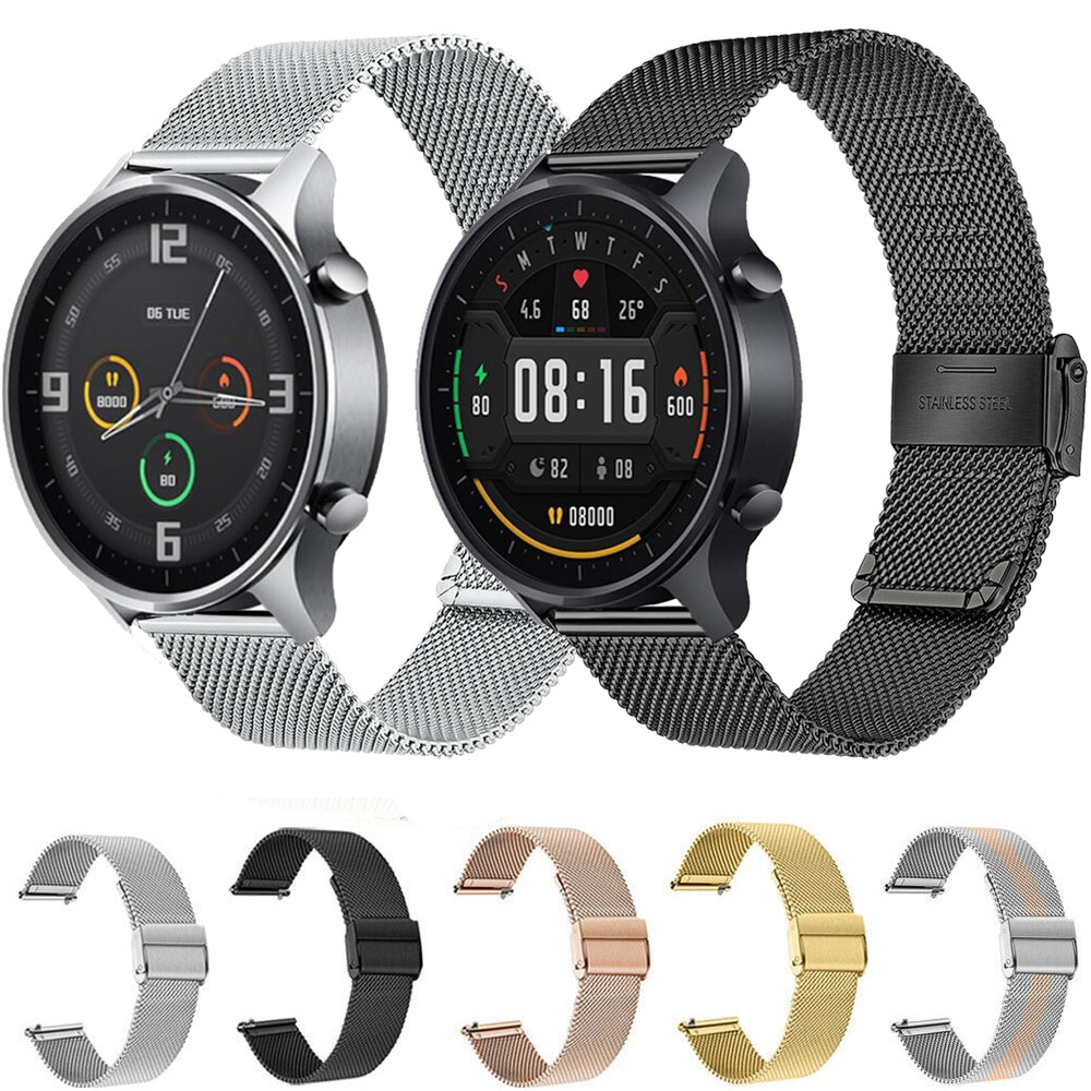 For Xiaomi Watch Color Strap Watchband Milanese Bracelet Stainless Stee 22mm Watch Band Mi Watch Color Metal Wristband