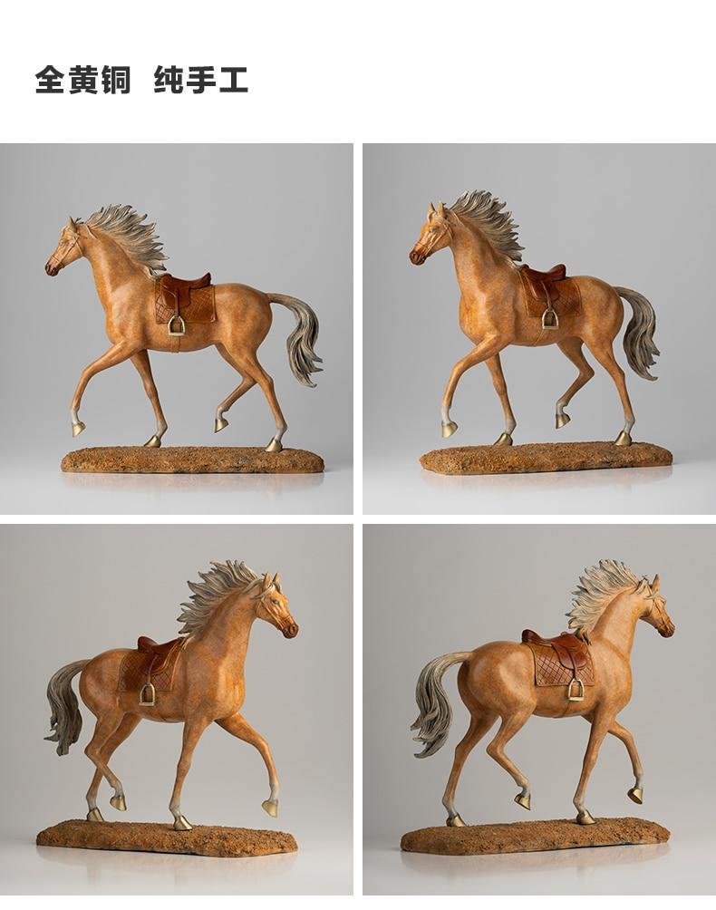 أفضل مجموعة الميمون المملكة العربية السعودية العربية الحصان تاليسمان الأعمال الفن هدية المنزل شركة حسن الحظ النحاس الفن النحت