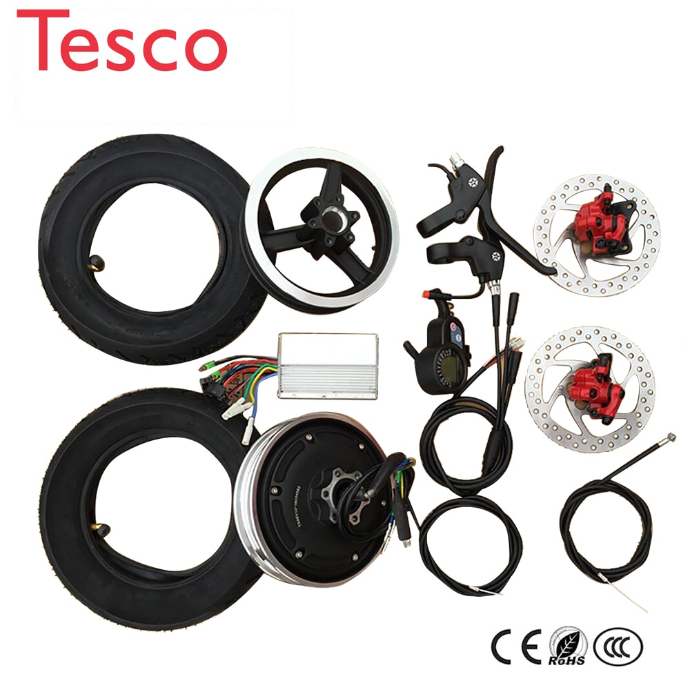 electric bike conversion kit 10 inch Electric Hub Motor wheel 36V 48V Scooter wheel motor accessories Brushless motor high speed scooter vacuum tire motor front hub 10 inch electric scooter 36v48v brushless motor 500w