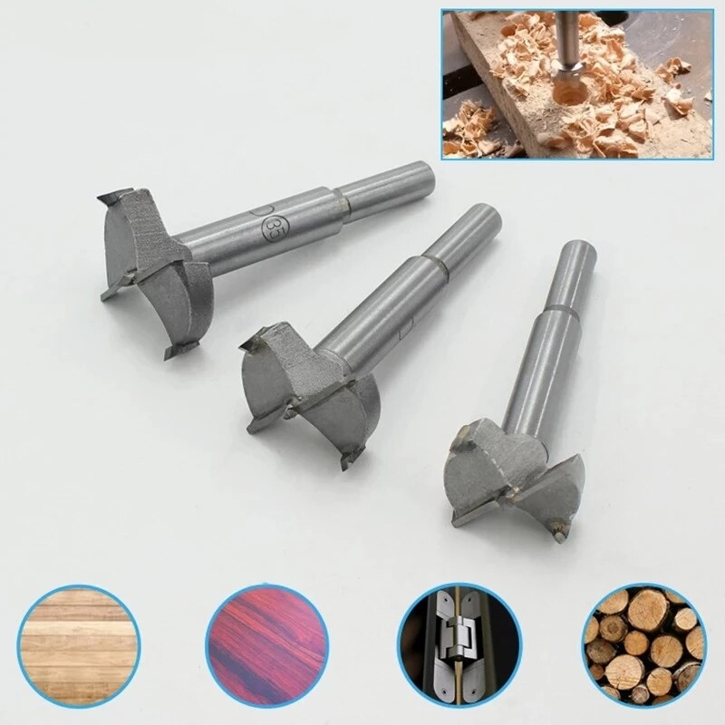 1Pc 15mm-35mm Carpentry Hole Opener Punch Bit Special hinge Alloy Plastic Gypsum Board Wood Hole Extractor Woodworking Tool new wood door locksmith special wooden door opener hole machine rapid positioning of the board perforator 1pc