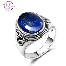 Очаровательное благородное кольцо из 100% серебра 925 пробы, 10x14 мм, лазурит, свадебное кольцо для девочек, подарок на день рождения