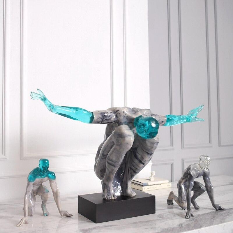 Decoración Para el hogar con textura de mármol, accesorios para principiantes, decoración moderna, estatua de mesa creativa, decoración transparente de resina para el escritorio
