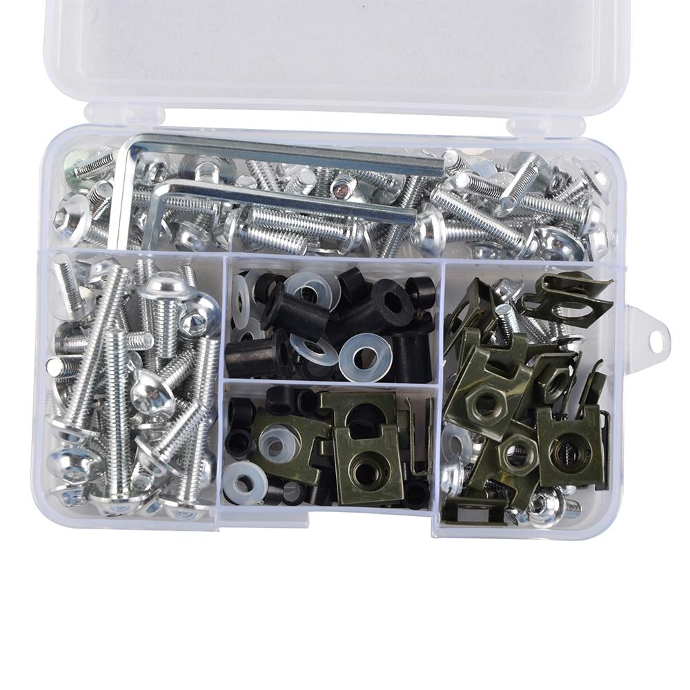 Tornillo de fijación de aluminio Clip para Honda CBR250R MC19 MC22 1988 89 90 91 92 93 1994 2011 12 13 2014 carenado perno de montaje Kit