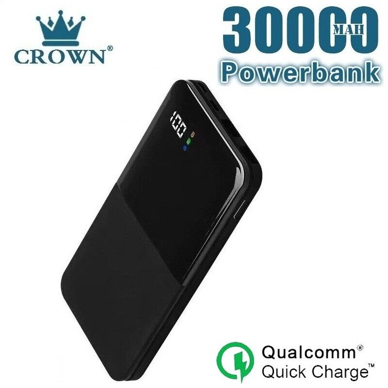 30000 mah power bank carregamento portátil powerbank 30000 mah usb poverbank carregador de bateria externa para xiaomi mi 9 8 iphone 7 Baterias Externas    -
