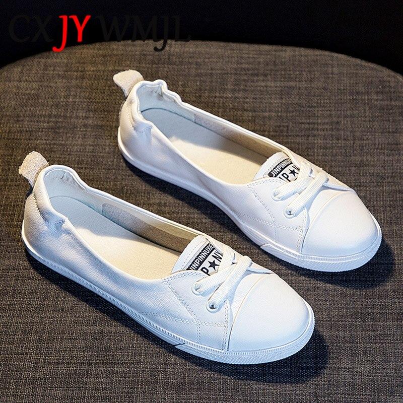 أحذية رياضية جلدية بيضاء كبيرة الحجم للنساء ، أحذية مبركن ، مسطحة بأربطة غير رسمية ، خفيفة الوزن ومريحة ، للأمومة