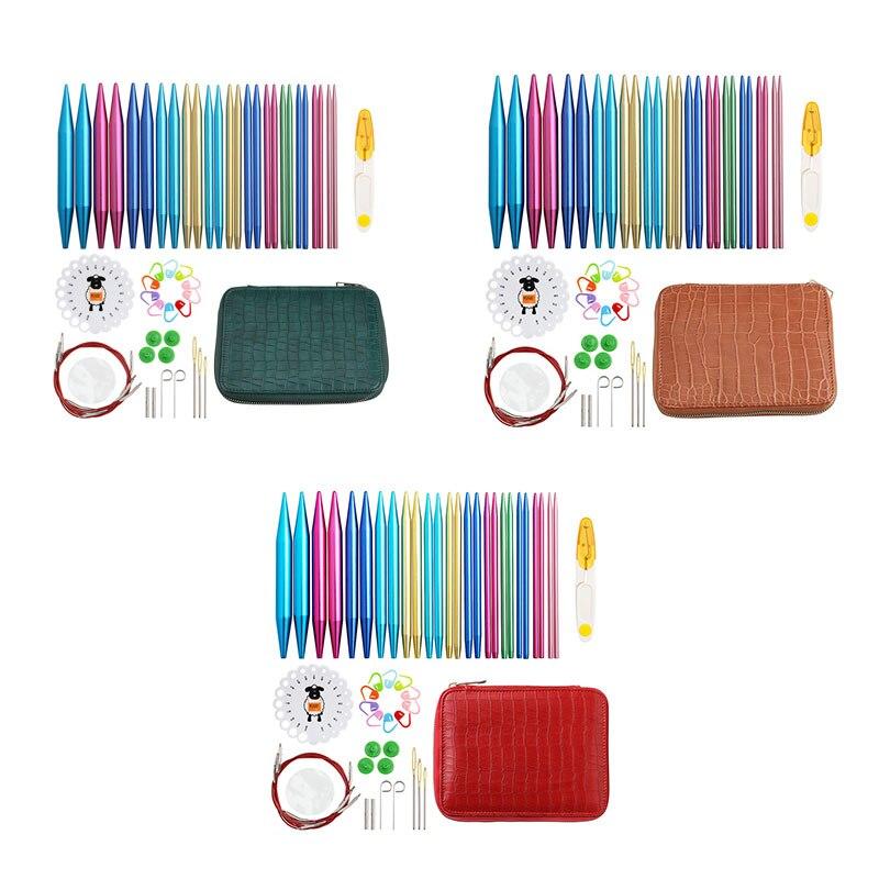 Набор круглых спиц для вязания, сменные спицы для вязания, набор аксессуаров для вязания для начинающих набор для вязания аксессуаров avenir модные сумочки