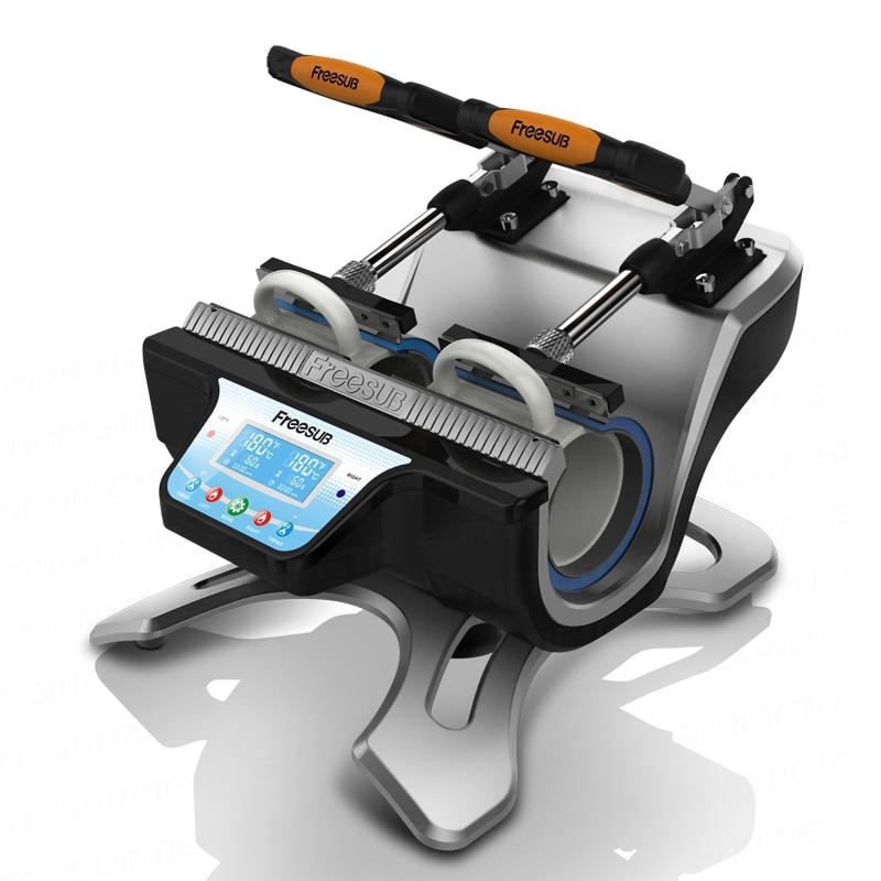 ST-210 Automatic Double station heat transfer machine baking cup machine heat transfer heat transfer machine fREESUB mug machine