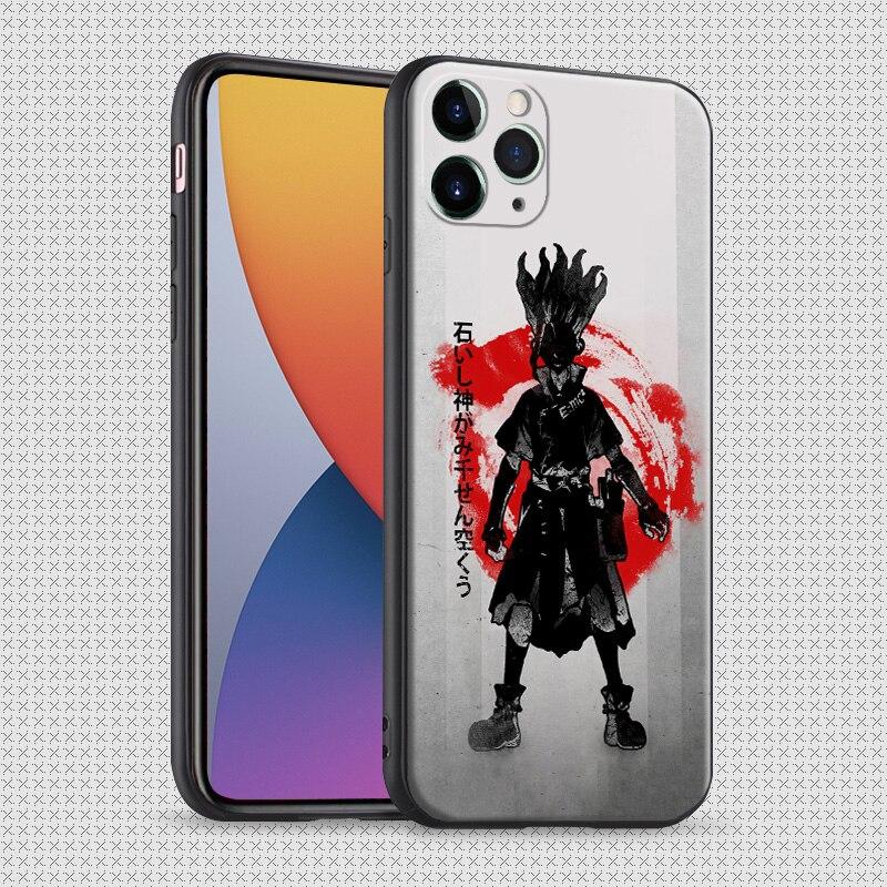 Ishigami Senkuu el dr. piedra Manga anime iPhone 6 6s 7 7 plus x xr xs 11 pro max de silicona suave cubierta de la caja del teléfono shell