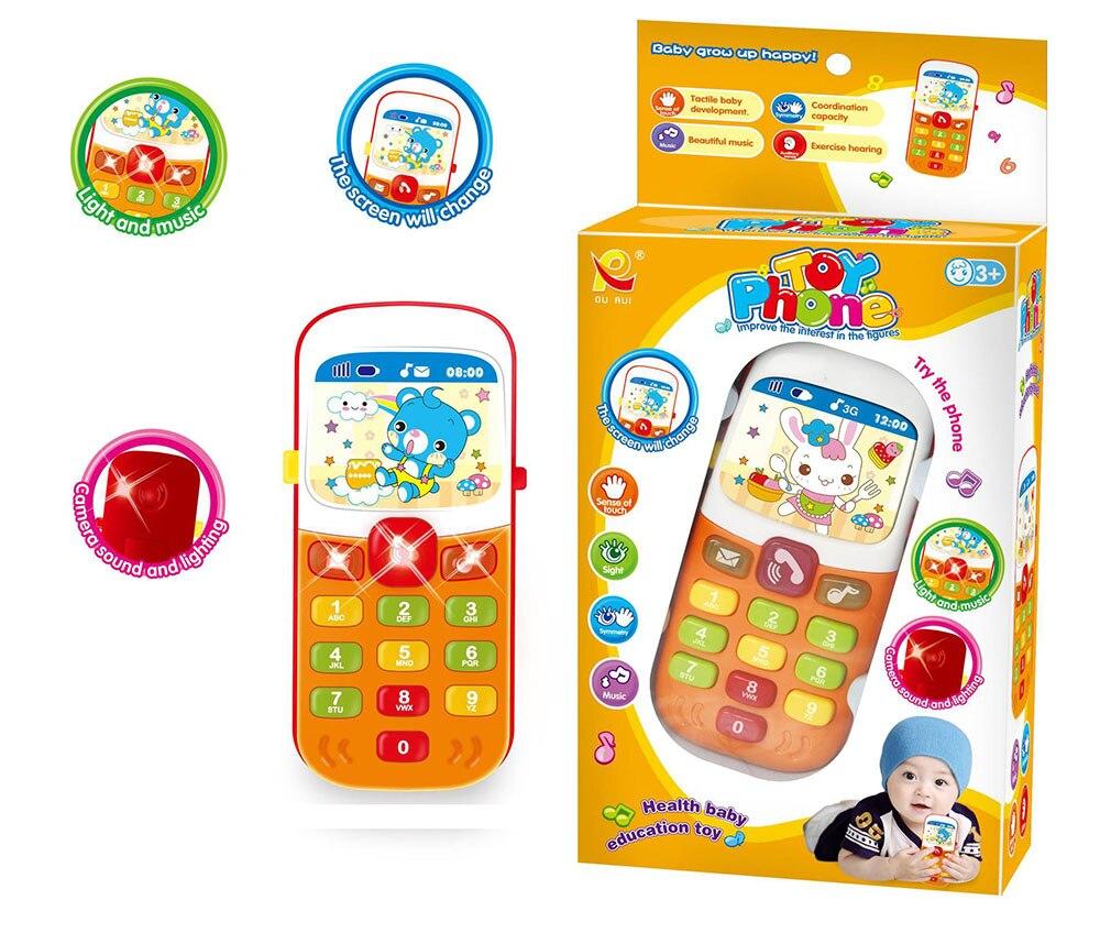 Дети Музыка мобильный телефон игрушка, ZUOFAN малыш разработан обучения мультфильм музыкальный телефон образовательные игрушки подарок детс...