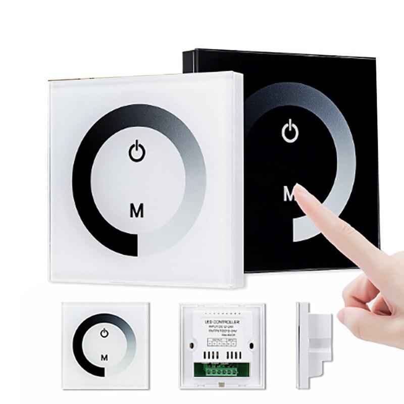 TM06 contrôleur décran tactile couleur unique DC12V-24V LED contrôleur décran tactile gradateur en verre pour LED bande lumineuse