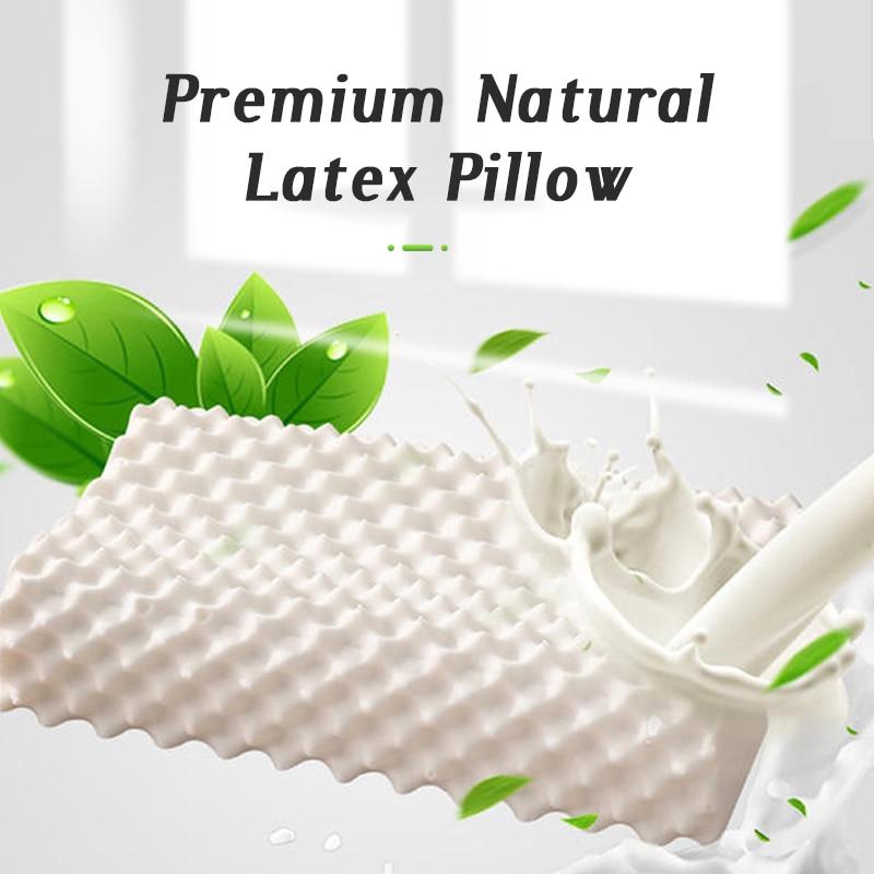 Almohada de látex para dormir, cojín ortopédico de masaje Cervical, Almohada de memoria