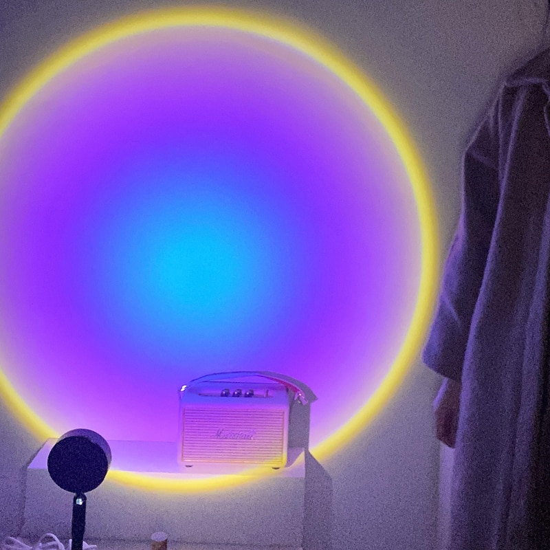 USB Rainbow Sunset Red Projector Led Night Light Sun Projection Desk Lamp for Bedroom Bar Coffee Store Wall Decoration Lighting enlarge