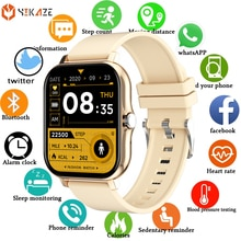 2021 Smart Watch Men Women 1.69 inch Full Touch Heart Rate Fitness Tracker Kids Waterproof Sports Smartwatch For Android IOS