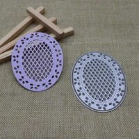oval frame craft lattice metal cutting dies stencil for diy scrapbooking photo album paper card making decorative