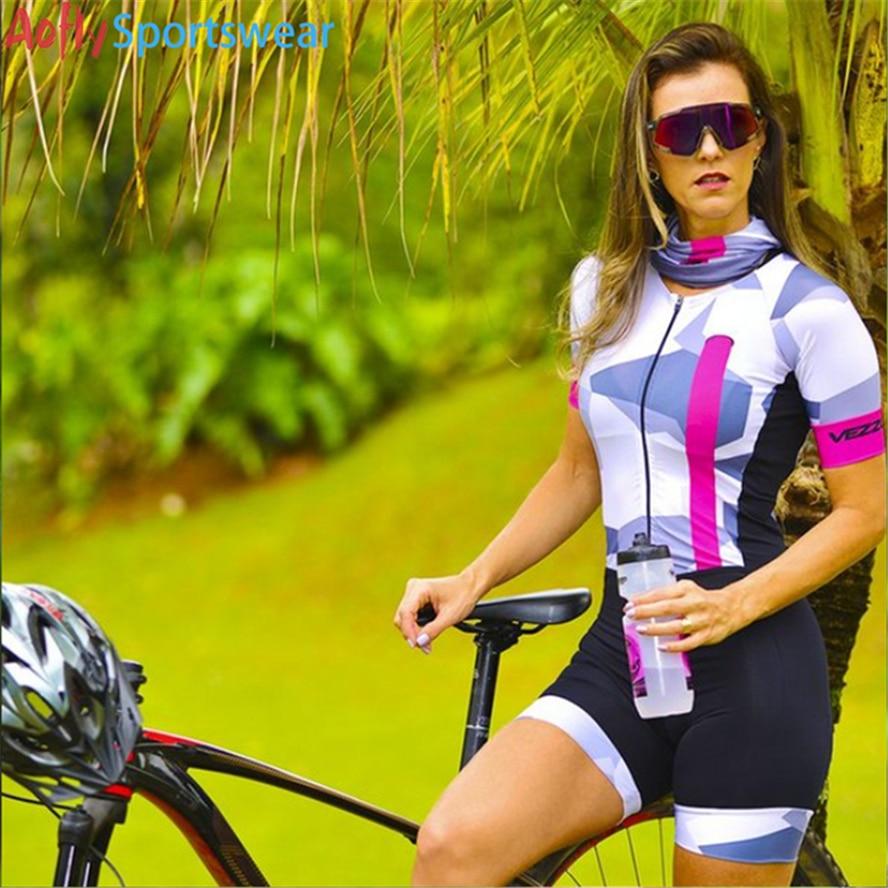 VEZZO-Conjuntos de Ropa de Ciclismo para mujer... Profesional Sexy monokini conjuntos de mono Ropa de Ciclismo para parejas de correo electrónico