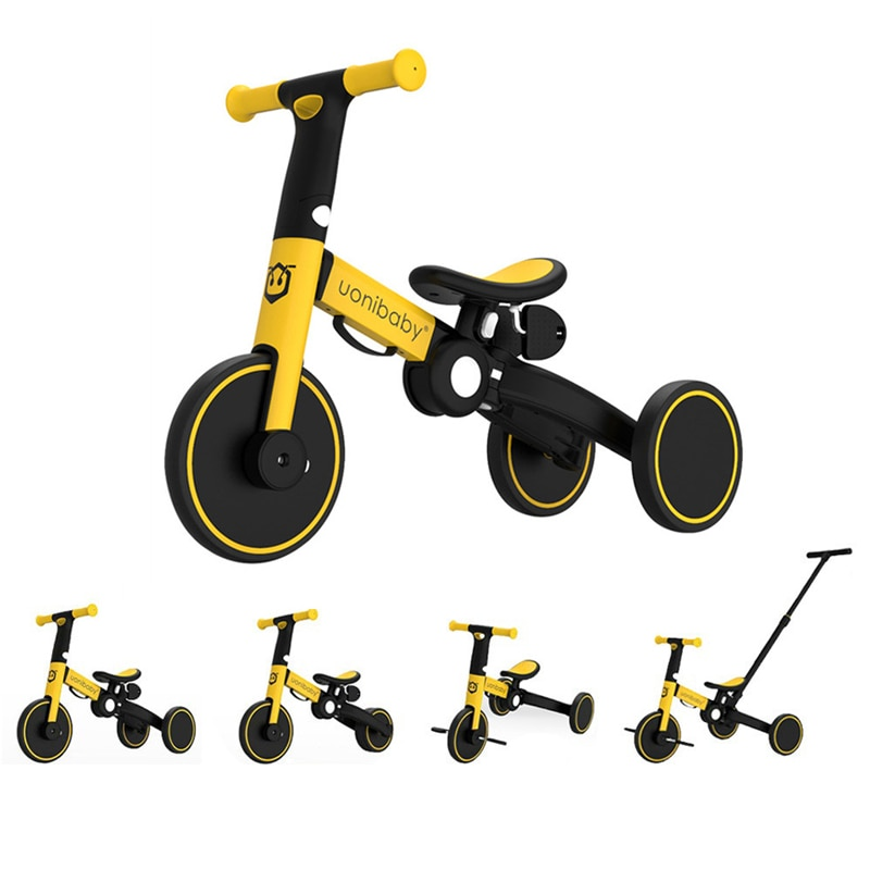 5 in 1 Multifunctional 1-6 years Old Toddler Tricycle Balance Bike Children Bicycle Stroller Lightweight Push Trolley