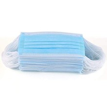 50pc Blue Good Quality Disposable 3-ply Breathable Face Ma Sk For Lips Care Ear Loops Disposable Tre