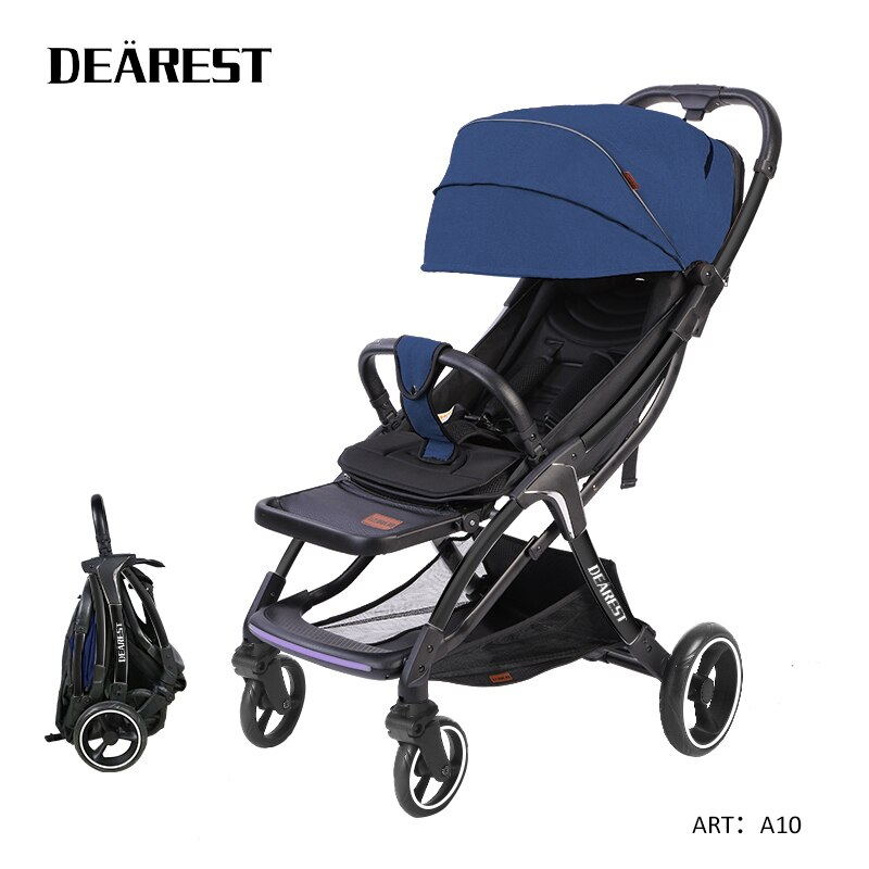 Dearest A10 Baby Stroller Baby Car Folding Four Seasons Available Light Russia Free Shipping enlarge