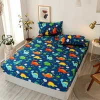 juannai 3 pc bed sheet sets singledoublequeen size dinosaur cartoon style sheets on an elastic band for kids bed sheet set