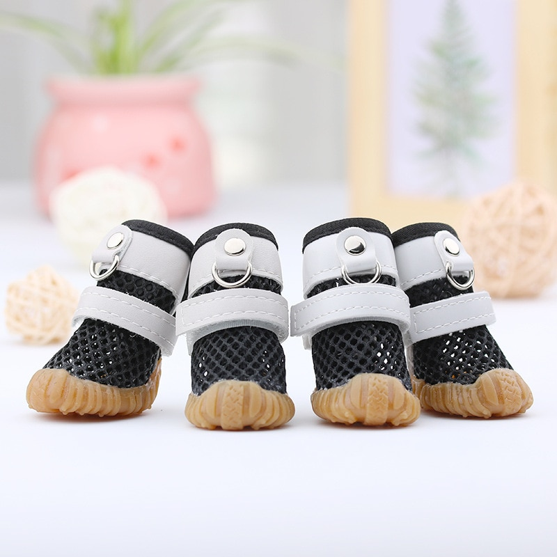 Summer Dog Rain Shoes Cats For Small Dogs Sandal Anti-Slip Chihuahua York Teddy Breathable Mesh Pet