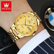 Automatic Watch Men's Mechanical Watches Luxury Brand Gold Stainless Steel Elegant Man Watch Casual
