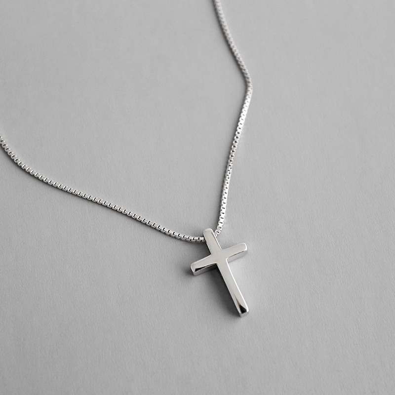 Collar de plata de ley 925 HFYK collares cruzados para COLLAR COLGANTE de las mujeres collares de plata 925 joyería collar mujer kolye
