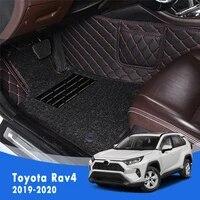 double layer wire loop carpets car floor mats for toyota rav4 rav 4 xa50 50 2019 2020 interior accessories automoblies styling