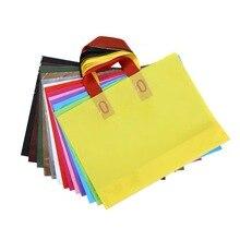 5 pièces sacs en plastique colorés avec poignée épaissir sac à provisions grande taille Boutique vêtements cadeau emballage sac au détail