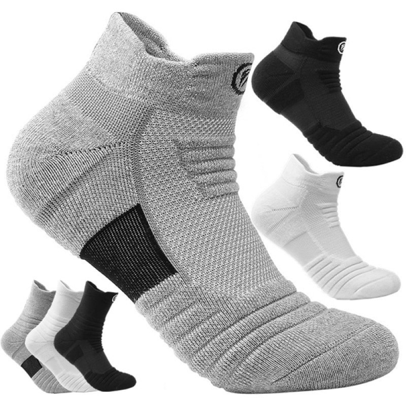 1Pair Running Stockings Men Short Socks thick Sweat Sweat-Absorbent Outdoor Sports Walking Stockings Basketball Stockings