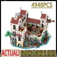 hot 4948pcs moc 49155 eldorado fortress pirates of barracuda bay pirate series building blocks bricks kids diy toy birthday gift
