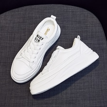 2021 New Women Casual Sneakers Leather White Sneakers,Breathable Sneakers,Comfort Shoe,Women's Vulca