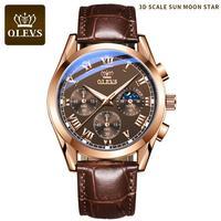 Часы наручные мужские кварцевые, люксовые модные с кожаным ремешком, водонепроницаемость 30 м, с легкой подсветкой