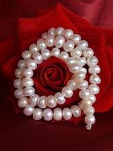 [ZHIXI] Natürliche Süßwasser Perle Halskette Edlen Schmuck Lange Halskette Für Frauen 3 Farbe Party Hochzeit Geschenk [X225]