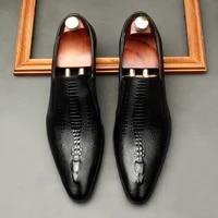 mr co handmade mens wedding oxford shoes black khaki genuine leather brogue mens dress shoes slip business formal shoes for men