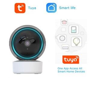 QZT Tuya IP Camera WIFI Indoor Smart Life Home Security Camera Video Surveillance Night Vision Baby Monitor Camera Alexa WIFI