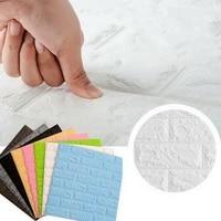 foam 3d wall stickers self adhesive wallpaper panels home decor living room bedroom house decoration bathroom brick wall sticker