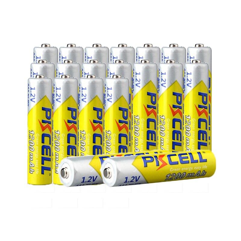 20 قطعة PKCELL 1.2 فولت AAA 1200mAh NIMH 3A بطاريات ni-mh AAA بطارية قابلة للشحن Battria للعب مصباح يدوي كاميرا عالية الطاقة
