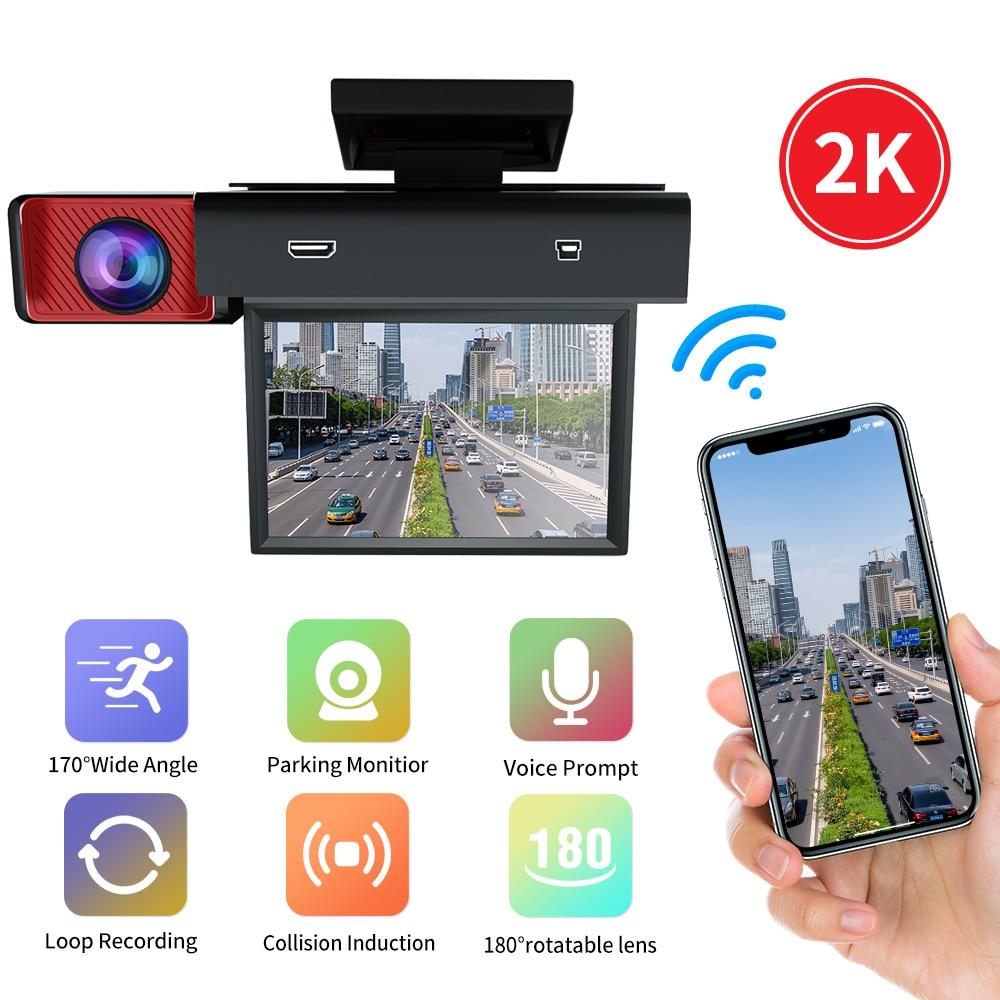 Car DVR Dual Cameras Lens 3.0 Inch Dash Camera Support Rearview Camera Video Recorder Auto Registrator 1080P HD Dash Cam WIFI недорого