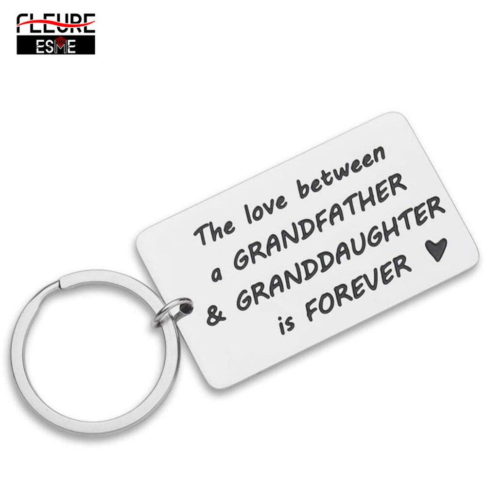 Llavero con frases románticas para el día del padre, abuelo, nieta, regalo divertido para el abuelo, papá y hombres, llavero de cumpleaños