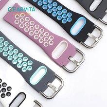 Correa de silicona para reloj inteligente, banda de acero de 20mm y 22mm para hombre y mujer, para Samsung, Huawei