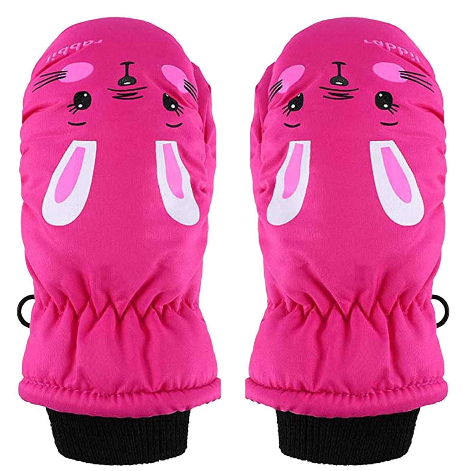 1 Pairs Toddler Kids Baby Boys Girls Ski Gloves Waterproof Warm Snow Mittens Children's camouflage b