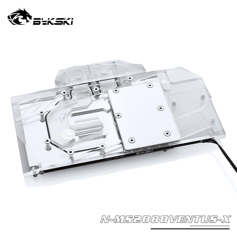 Bykski GPU برودة المستخدمة في MSI RTX 2080 VENTUS 8G V2 ، RTX 2070 سوبر 8G ، N-MS2080VENTUS-X كتلة المياه المبردة