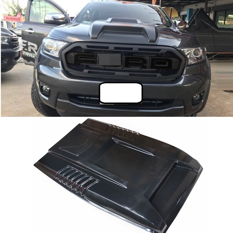 Bug Shields Scoop hoods cover exterior car styling moulding fit for Ranger T8 xlt 2018 2019 scoop hooods covers auto parts