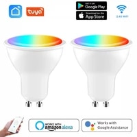 Ampoule LED Wifi Smart Gu10  projecteur Tuya Smart Life APP 4W RGBCW  lampe magique  commande vocale  fonctionne avec Alexa Google Home
