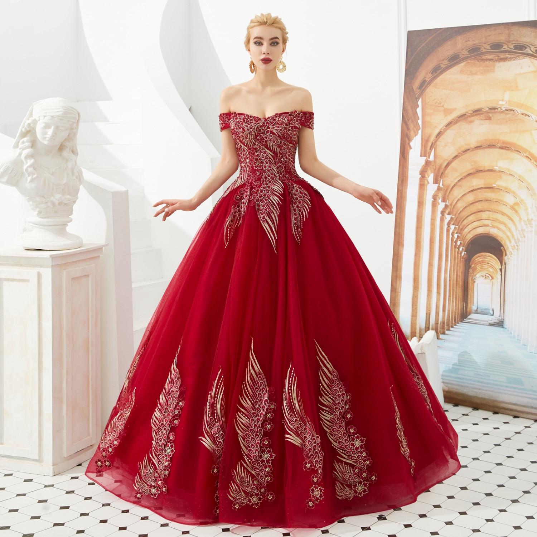 Винно-красные золотые кружевные платья, бальное платье без рукавов, вечерние длинные платья для выпускного вечера, вечерние платья