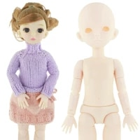 new bjd doll 28cm baby doll toy 22 removable joint 16 doll normal skin nude body girl toy without makeup diy dress up gift
